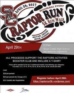 raptor run flier