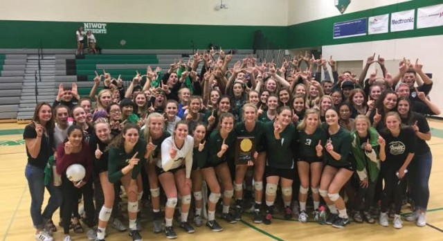 Niwot Volleyball 2016 Regional Champions!