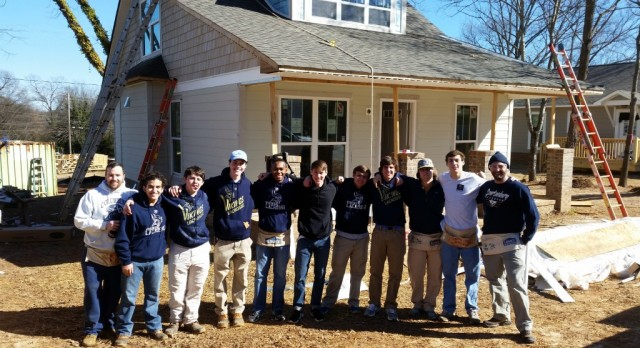 Boys Lacrosse volunteers at Habitat for Humanity