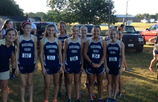 Spartanburg High School Girls Varsity Cross Country finishes 3rd place