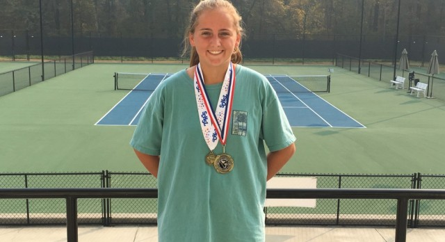 Claire Coleman finishes 3rd in State Individual Tennis Tournament