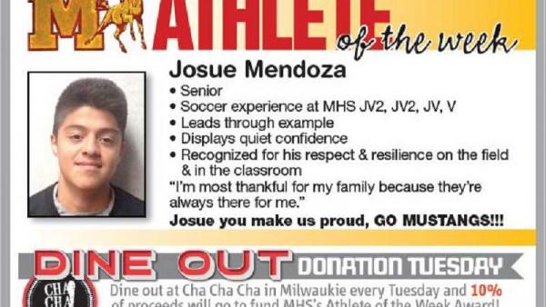 Josue Athlete of the week