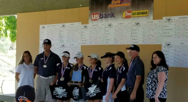 St. Mary's Girls Golf Win State Championship