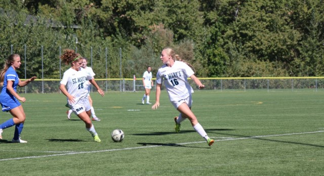 St. Mary's School Girls Varsity Soccer beat Rogue River High School 8-0