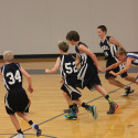 Boys MS Basketball 8th Grade Blue Against Hanby