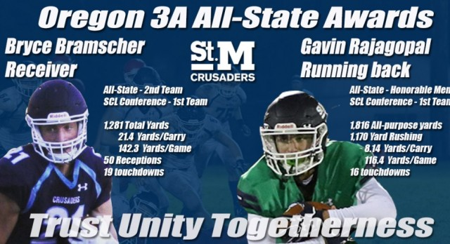 Bramscher And Rajagopal Selected To Oregon 3A All State Football Teams