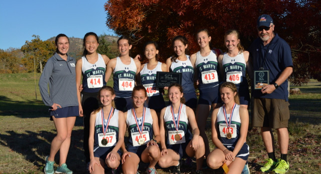 St. Mary's girl runners win district crown