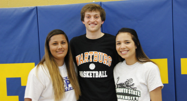 Three FHS athletes sign to play sports in college