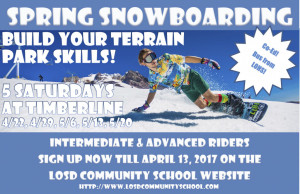 Spring Snowboard poster