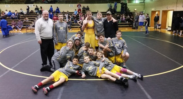 JH Bear wrestlers end dual season 20-2; travel to Franklin Central Saturday