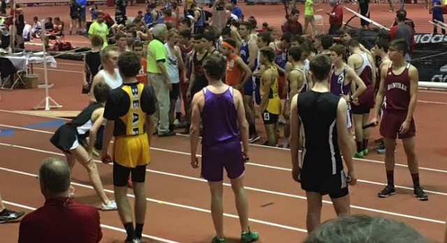 Pierce 3rd with new record; Haney 10th in high jump at indoor State
