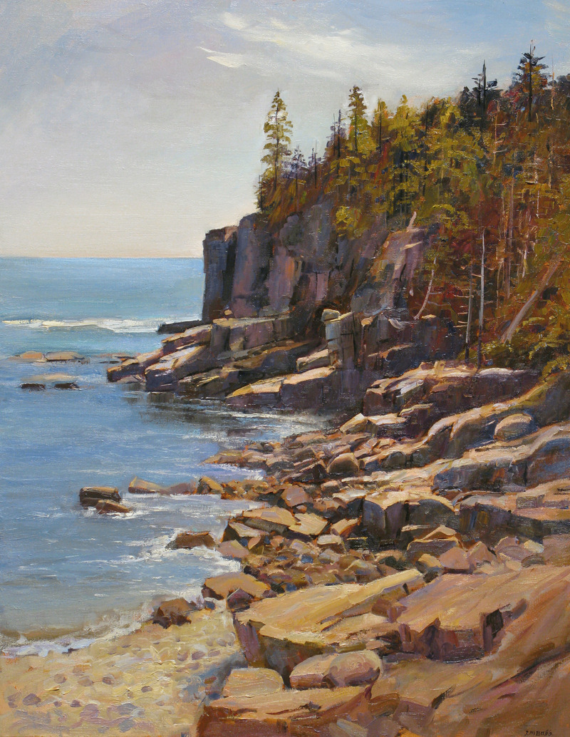 Otter Cliffs, Mt. Desert Island, Maine (from North) by Joel Babb