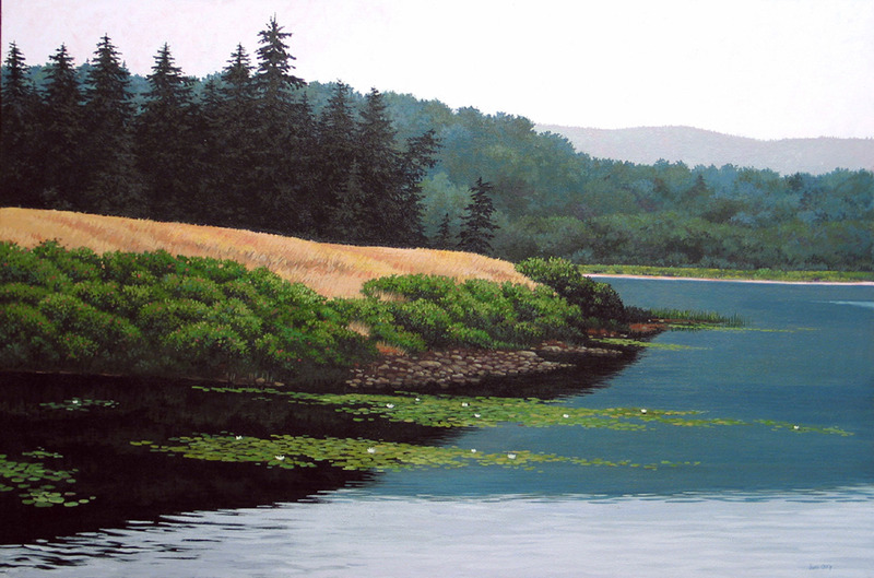 Long Pond, Mt. Desert Island, Maine by June Grey
