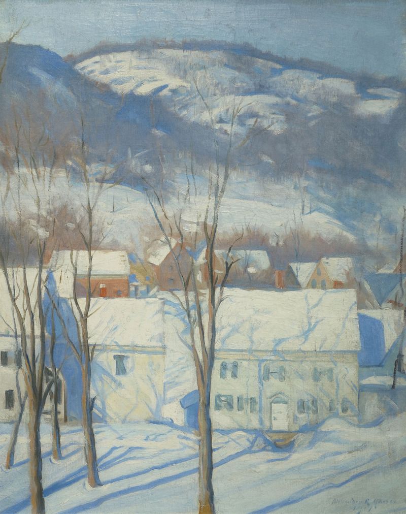Woodstock Street, Woodstock, NH by Alexander Robertson James (1890-1946)
