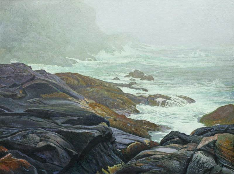 Monhegan Storm by John Whalley