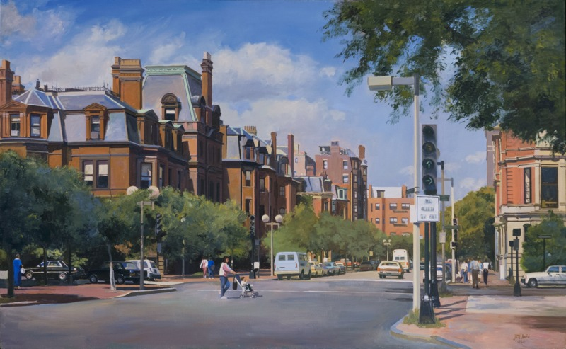 Dartmouth Street and Commonwealth Avenue, Boston, MA by Joel Babb