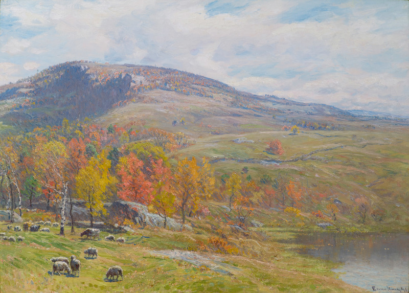 Crotched Mountain in October by John J. Enneking (1841-1916)