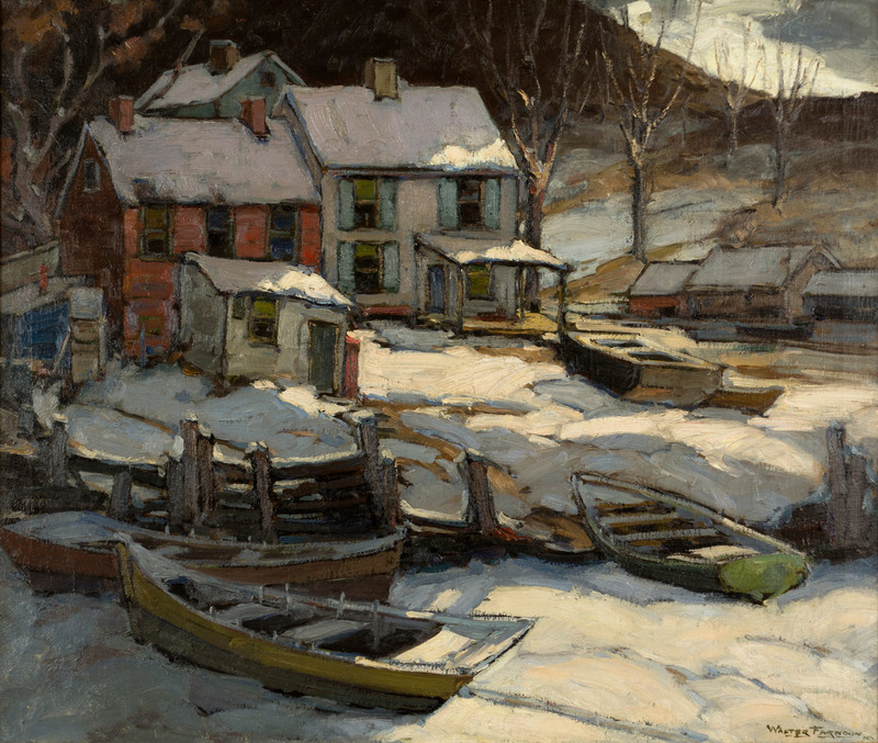 Midnight Snow in Nova Scotia by Walter Farndon (1876-1964)