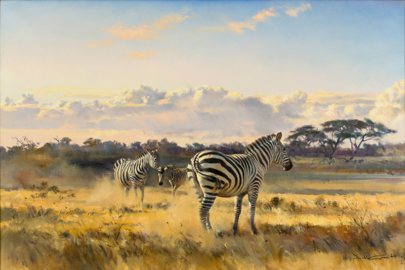 Zebras by Donald C. Grant (1930-2001)
