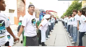 Preparing a Human Chain Against Violence in Guatemala