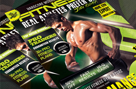 Performance Fitness Flyer PSD Template