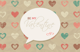 Grungy Valentine's Day Vector Background