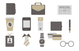 Businessman Accessory Vector Pack