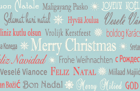 Multilingual Christmas PSD and Vector Background