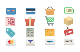 Shopping Icon Vector Pack