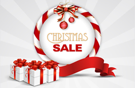 Sunburst Christmas Sale PSD Background