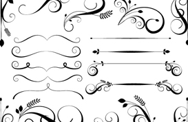 Swirly Flourish Brushes Pack