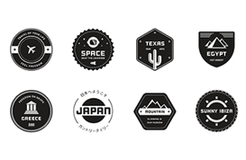 Travel Badge Vector Pack