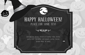 Witchy Halloween Background Vector