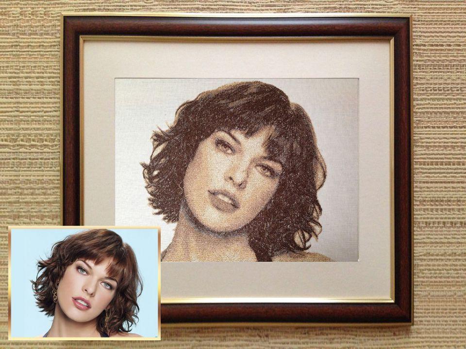 Как сделать вышивку портрета