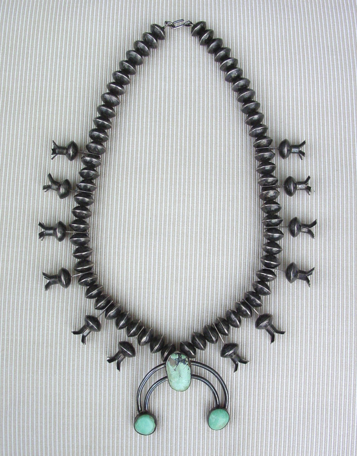 Mercury Dime Squash Blossom Necklace Old Pawn