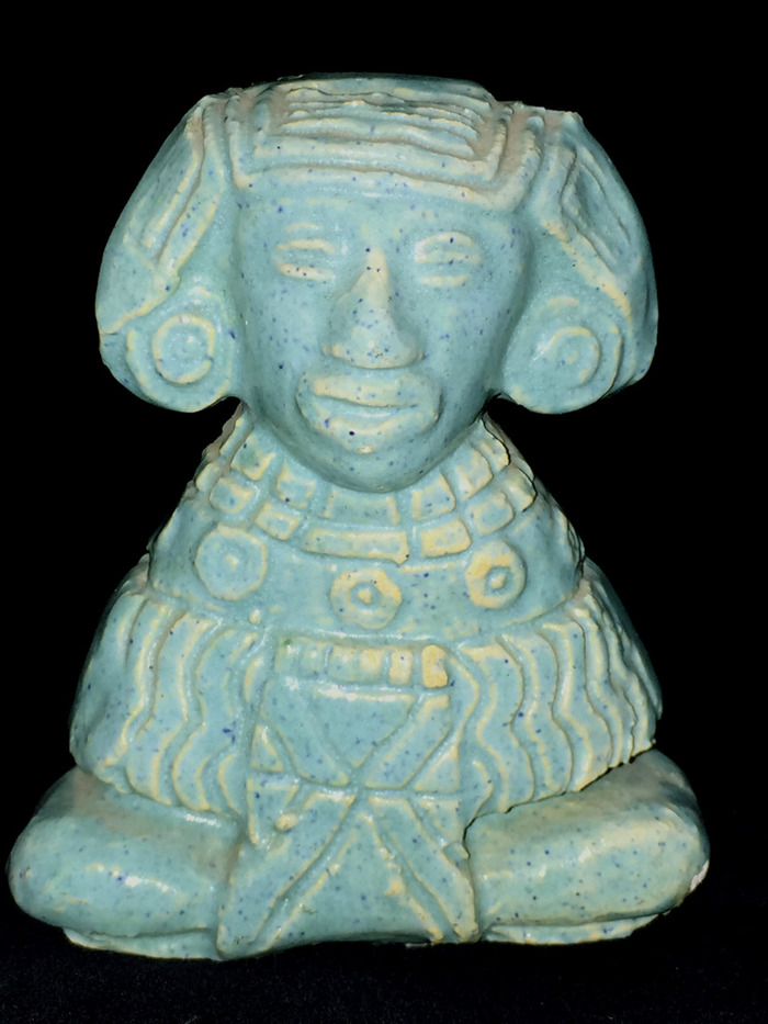 Turquoise Mayan Sculpture Witte Mark 1930s