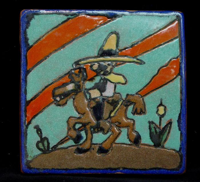 "1946 ""Cowboy on Horse"" Tile"