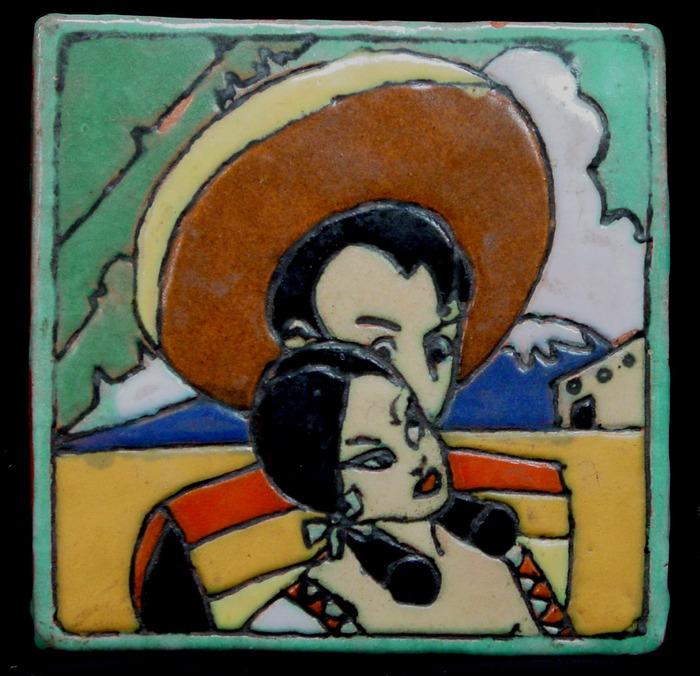 "1944 ""Mexican Couple"" Tile"