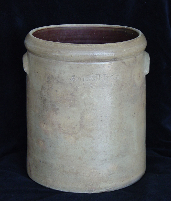 VERY EARLY MEYER or Suttles SIGNED NEW BRAUNFELS JAR