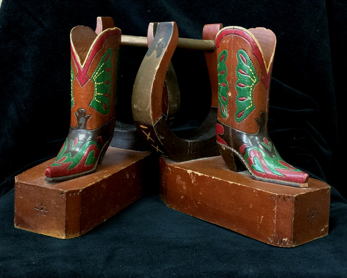 Rare 1940s Boots and Stirrups Book Ends