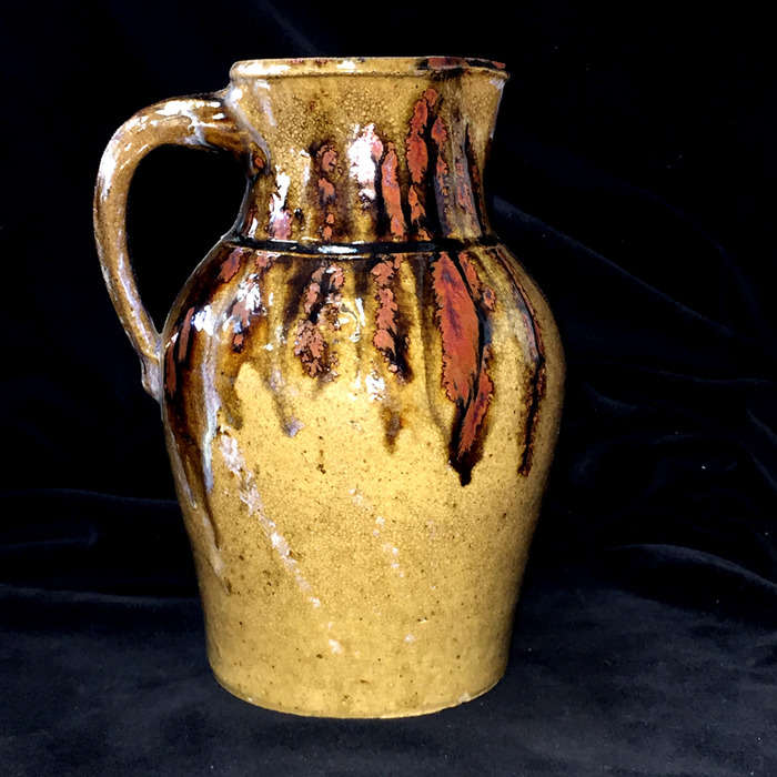 Hand decorated Pitcher