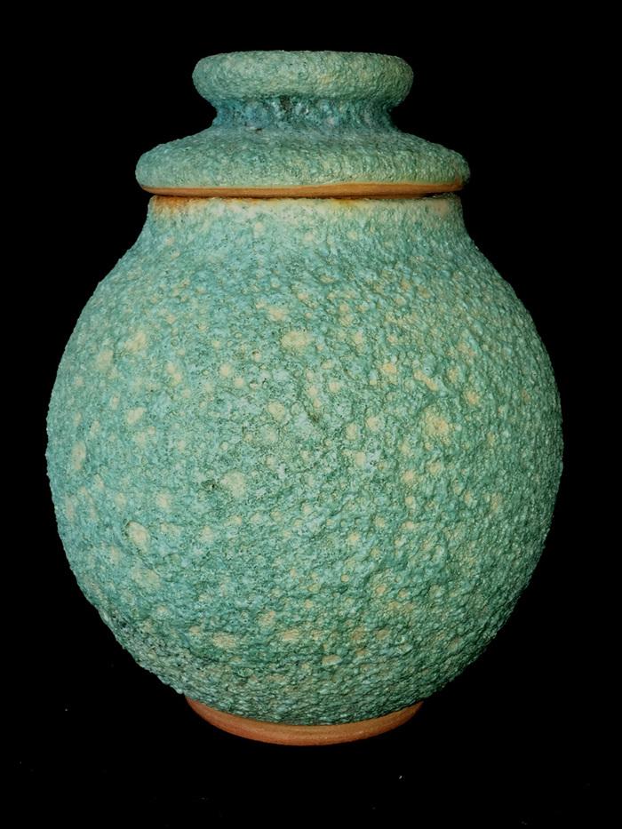 Lava Glaze Teal Ginger Jar