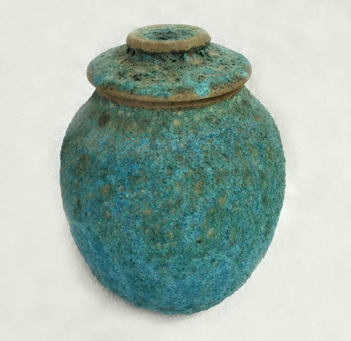1983 Lava Glaze Turquoise Cookie Jar