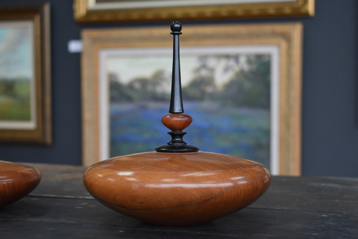 Mesquite Lidded Finial Box with Ball Tip
