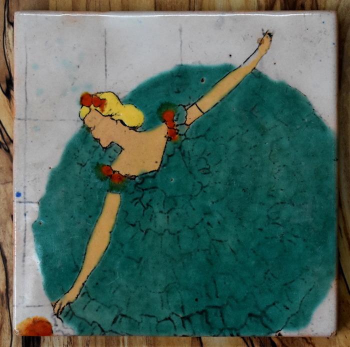 """Dancing Girl Tile"""