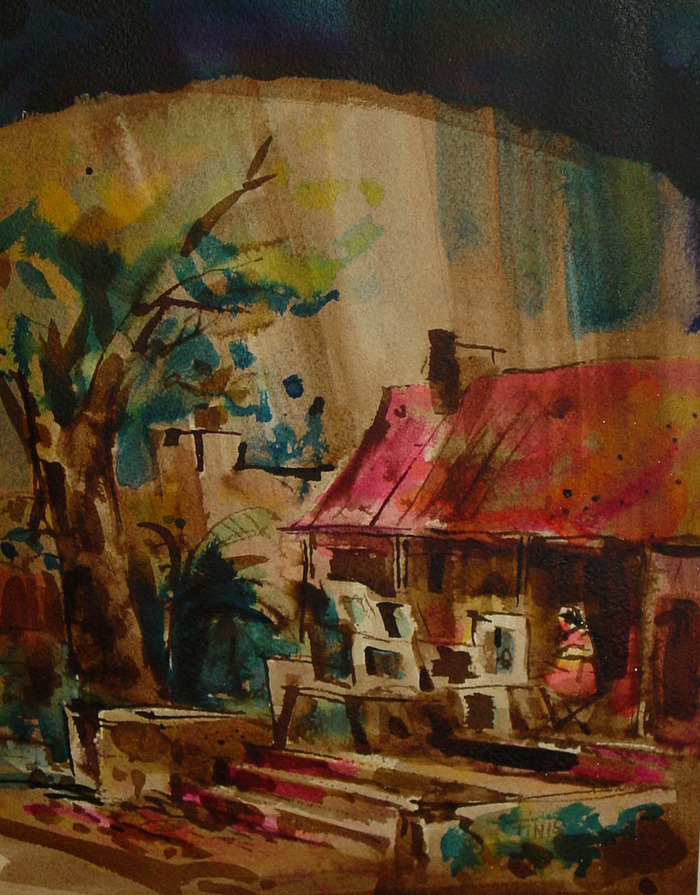 La Villita Artist painting
