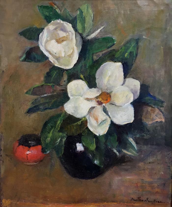 """""""Magnolias in Blue Vase"""""""