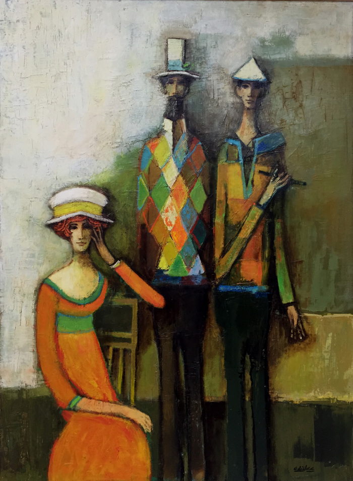 """Harlequins and Lady in Orange"""