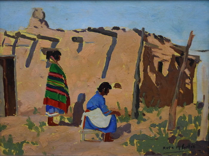 """Adobe Home with Two Women"""