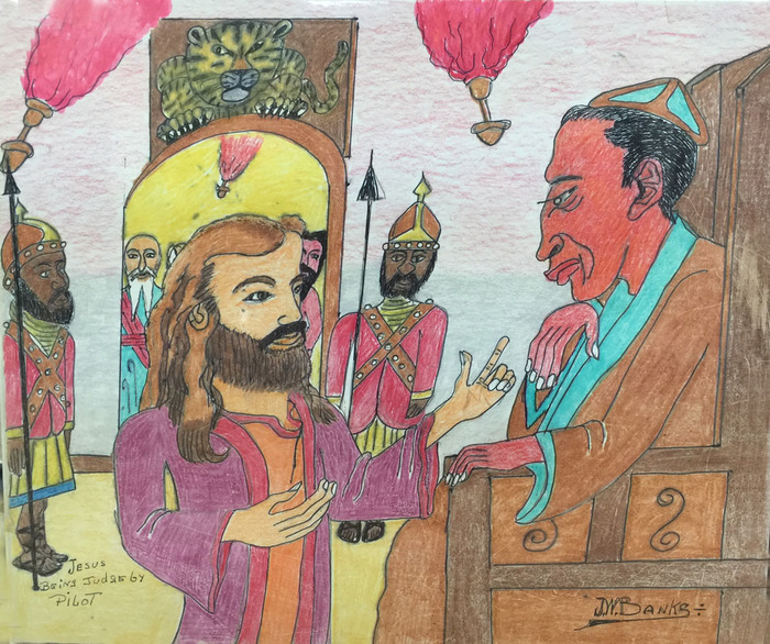 """Jesus Being Judge by Pilot"""